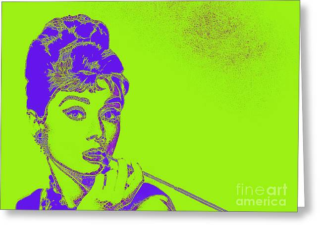 Audrey Hepburn 20130330v2p38 Greeting Card by Wingsdomain Art and Photography