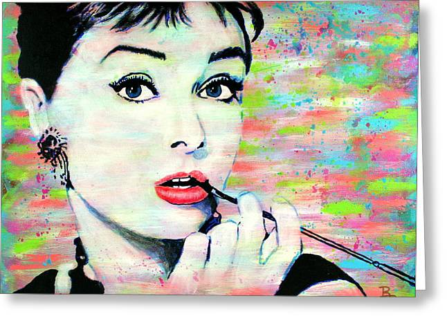Audrey Hepburn Art Breakfast At Tiffany's Greeting Card
