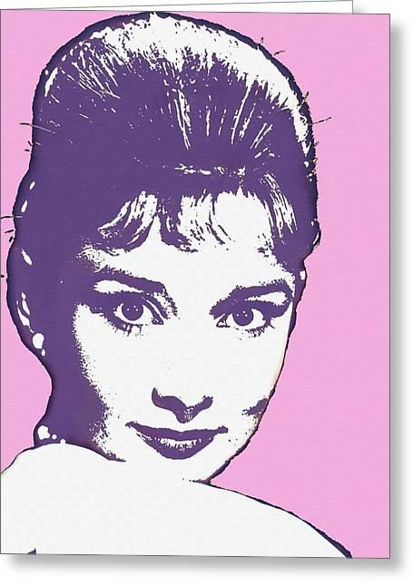 Audrey Hepburn Greeting Card by Art Cinema Gallery