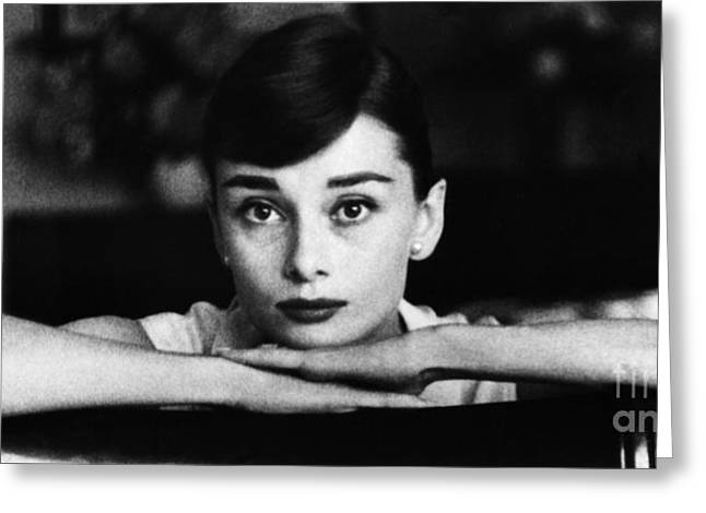 Audrey Hepburn Greeting Card by George Daniell