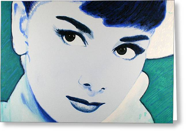 Audrey Hepburn Pop Art Painting Greeting Card