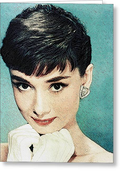 Audrey Hepburn Greeting Card by Taylan Apukovska