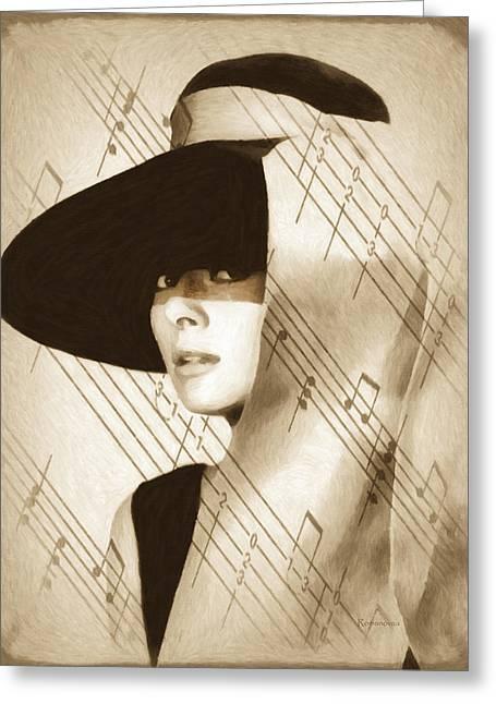 Audrey Hepburn Vintage Greeting Card