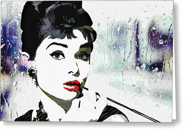 Audrey Hepburn Greeting Card by Deena Athans