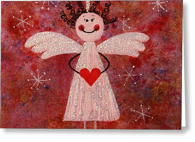 Audrey The Angel Greeting Card