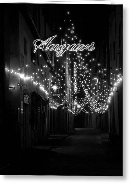 Auguri To Florence Greeting Card by Visual Stenographer