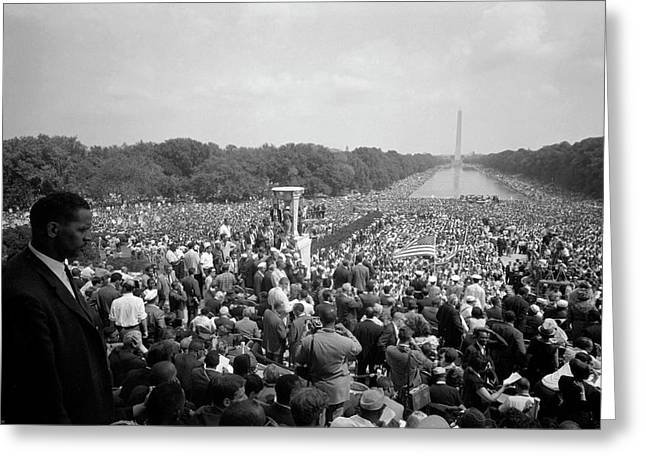 August 28, 1963 - A Huge Crowd Greeting Card