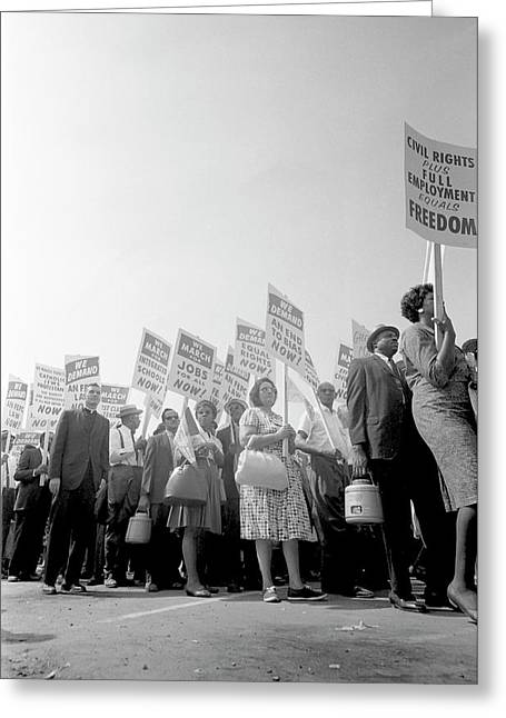 August 28, 1963 - Demonstrators Greeting Card