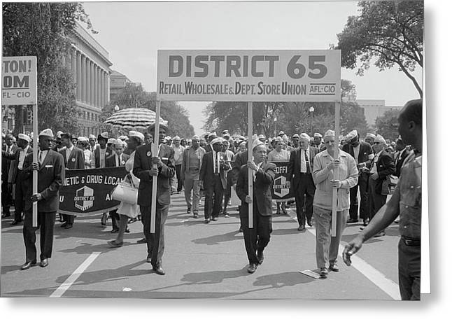 August 28, 1963 - Marchers Carrying Greeting Card by Stocktrek Images