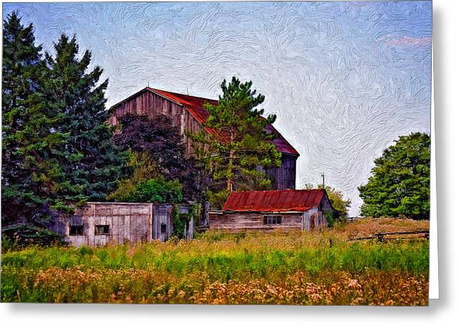 August Afternoon Impasto Greeting Card by Steve Harrington