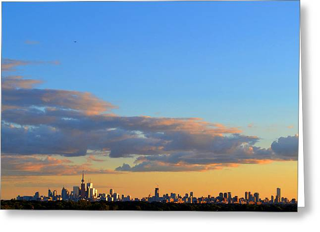 August Early Evening Toronto 4  Greeting Card by Lyle Crump