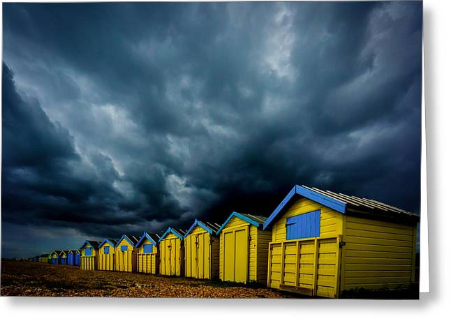 August In Littlehampton Greeting Card by Chris Lord