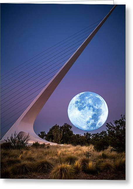 August Moon Greeting Card