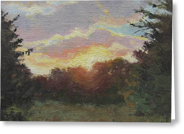 August Sunrise Plein Air Greeting Card