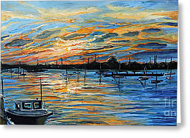 August Sunset In Woods Hole Greeting Card by Rita Brown