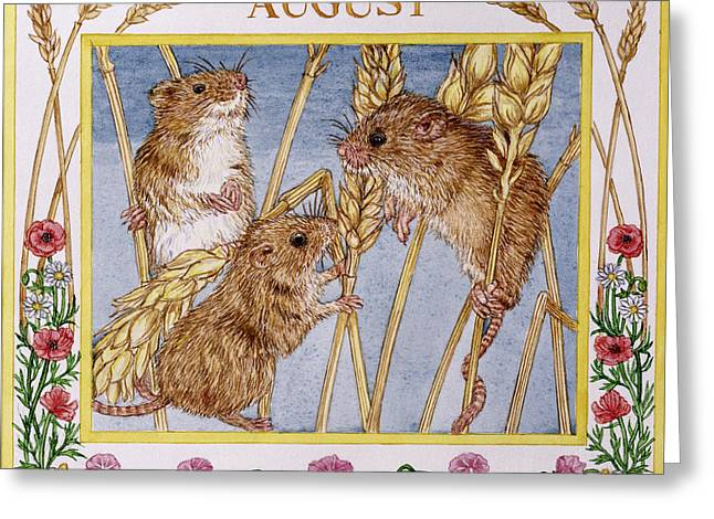 August Wc On Paper Greeting Card by Catherine Bradbury