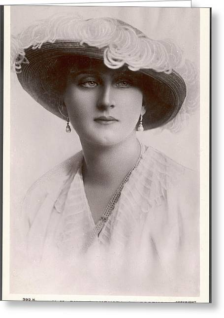 Augusta, Queen Of Portugal Augusta Greeting Card by Mary Evans Picture Library