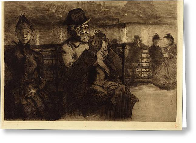 Auguste Lepère French, 1849 - 1918, Sur La Seine Greeting Card