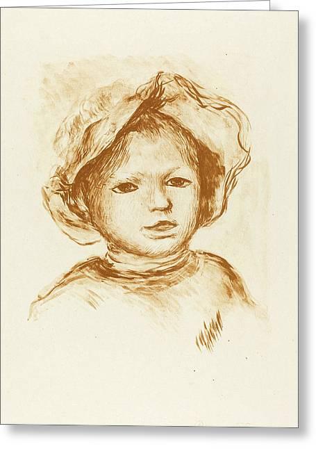 Auguste Renoir French, 1841 - 1919, Pierre Renoir Greeting Card by Quint Lox
