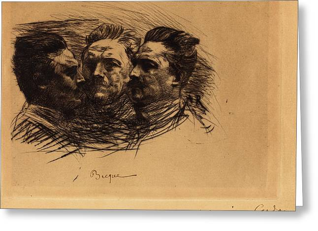 Auguste Rodin French, 1840 - 1917, Henri Becque Greeting Card