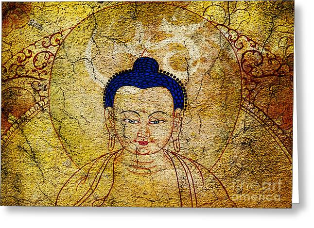 Aum Buddha Greeting Card