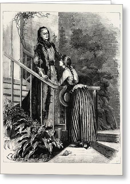 Aunt Charlotte And Mildred Greeting Card by Macquoid, Percy (1852-1925), English