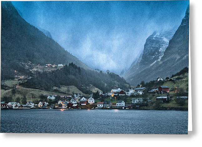Aurland Greeting Card by Wade Aiken