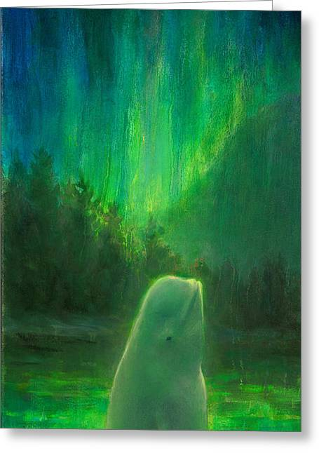 Aurora Beluga Greeting Card