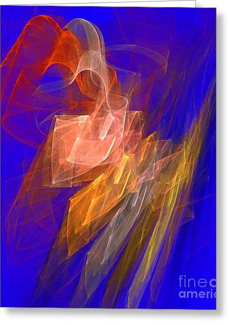 Aurora Blue Greeting Card by Jeanne Liander