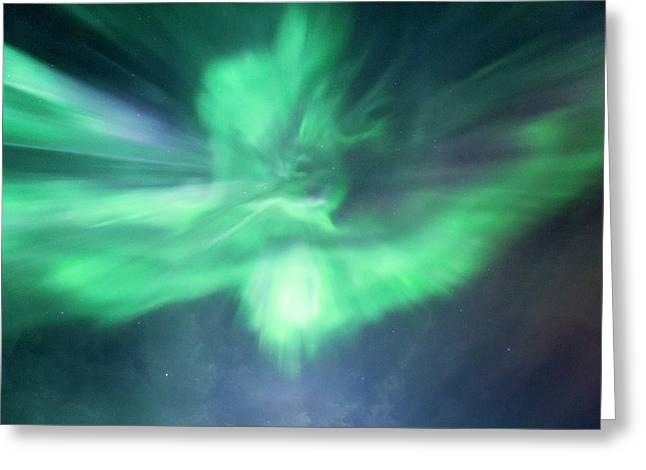 Aurora Borealis Corona Greeting Card by Dr Juerg Alean