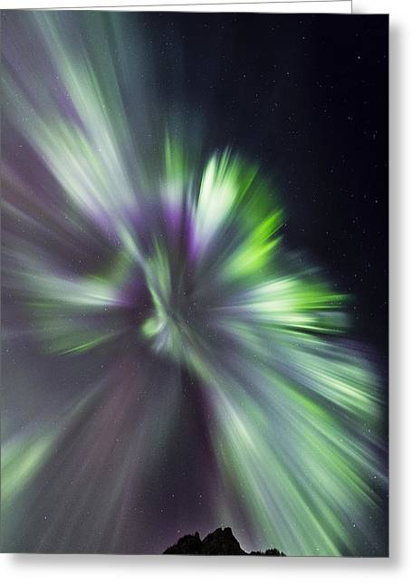 Aurora Borealis Corona Greeting Card by Frank Olsen