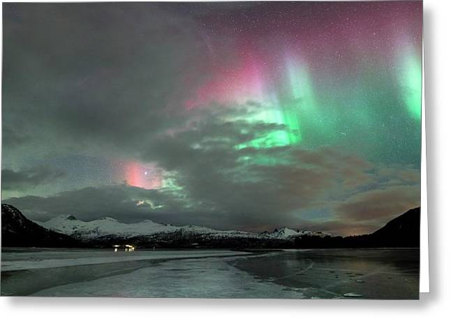 Aurora Borealis During Geomagnetic Storm Greeting Card