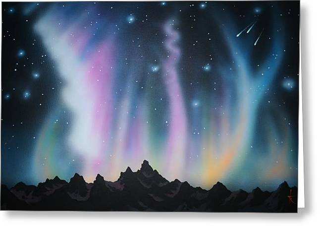 Aurora Borealis In The Rockies Greeting Card