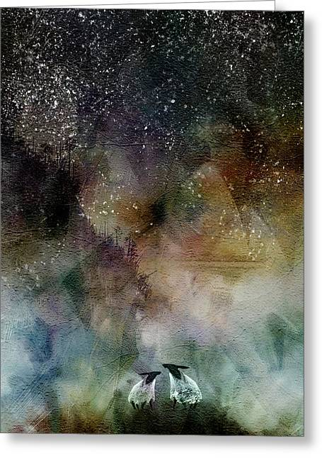 Aurora Borealis Sheep Greeting Card
