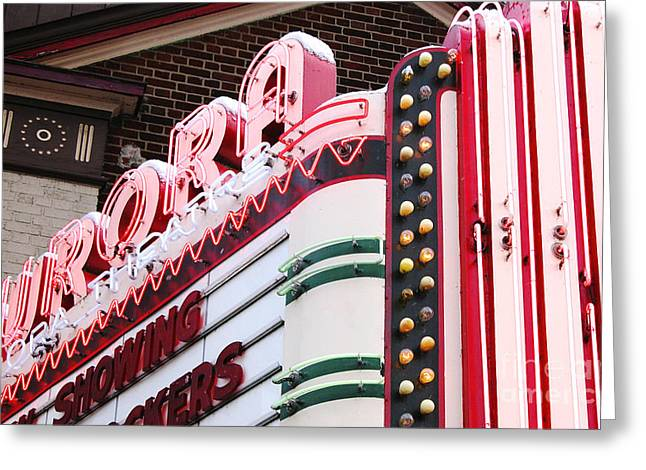 Aurora Theater Marquee Greeting Card