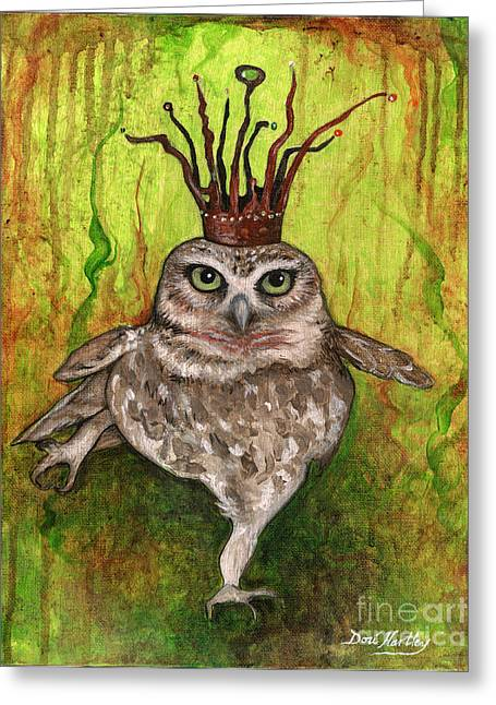 Aurora The Owl Queen Greeting Card