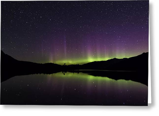 Auroral Curtain Greeting Card by Lisa Hufnagel