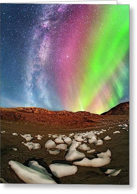 Auroral Display Greeting Card
