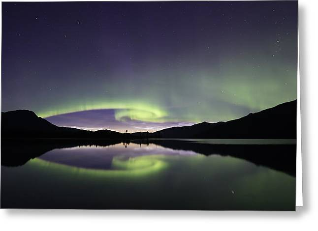 Auroral Spiral Series1 Greeting Card by Lisa Hufnagel
