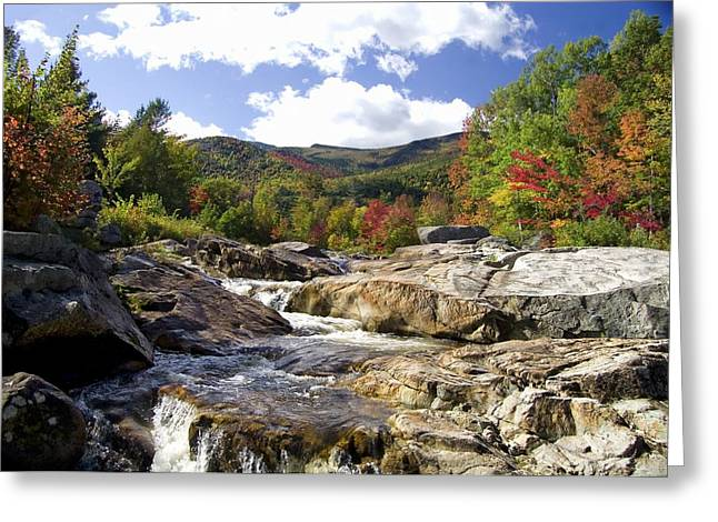 Ausable River Entering Flume Greeting Card