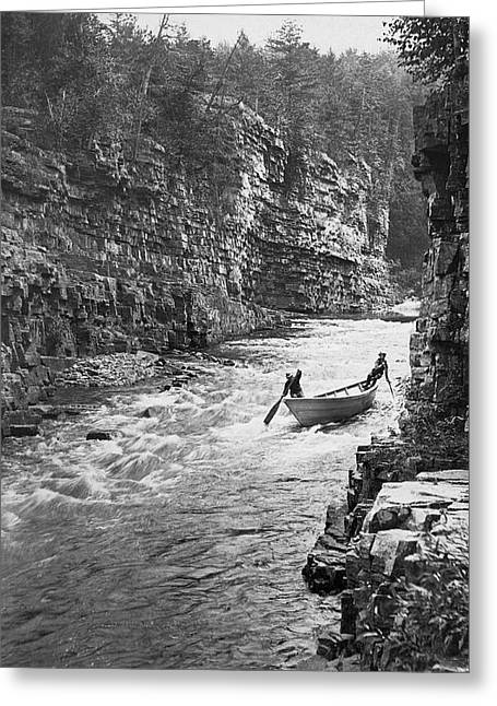 Ausable River Rapids Greeting Card by Underwood Archives