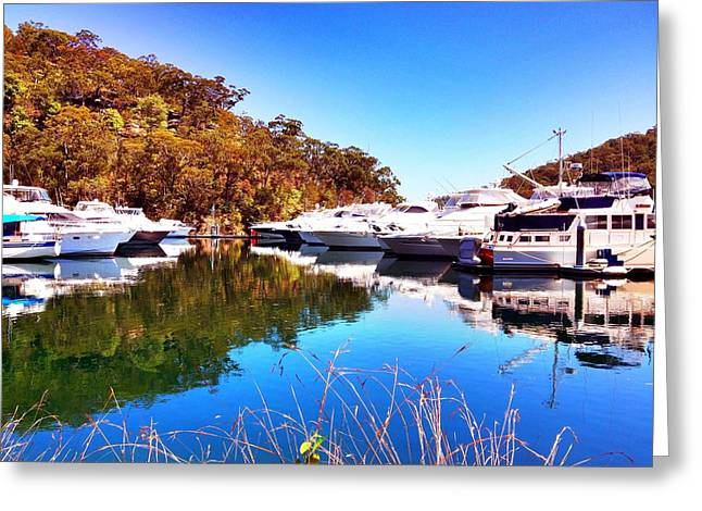 Greeting Card featuring the photograph Aussie Blues by Marty  Cobcroft