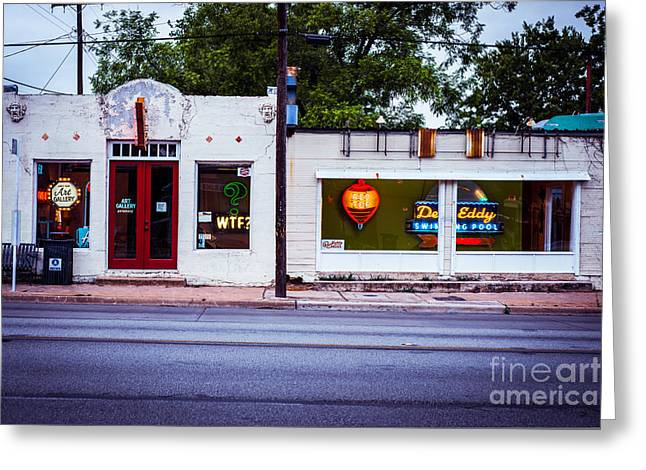 Austin Art Gallery Greeting Card by Sonja Quintero