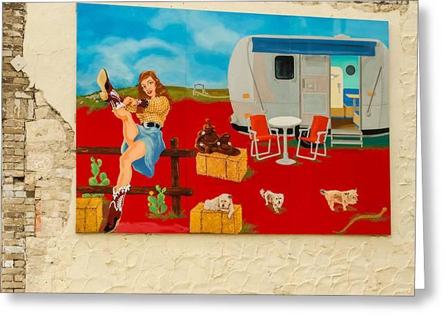 Austin - Camping Mural Greeting Card