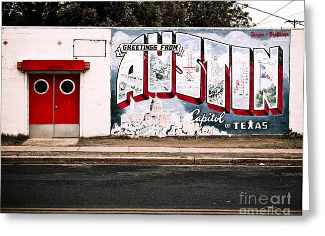 Austin Capital Greeting Card by Sonja Quintero