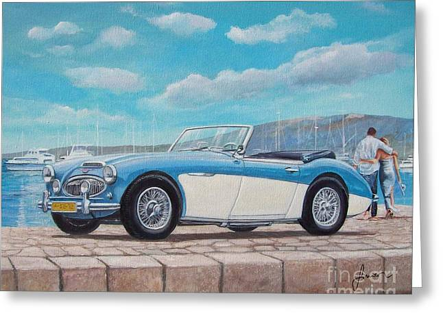 Austin Healey Bj8 Mark IIi Greeting Card