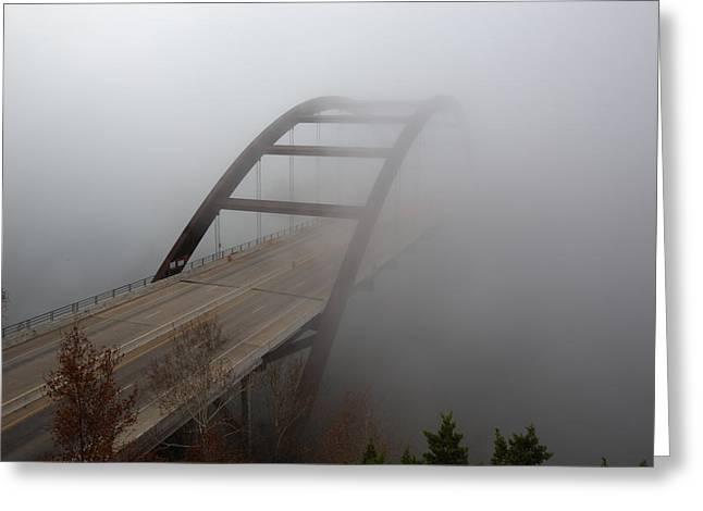 Austin Images - Pennybacker Bridge In Morning Fog 7 Greeting Card