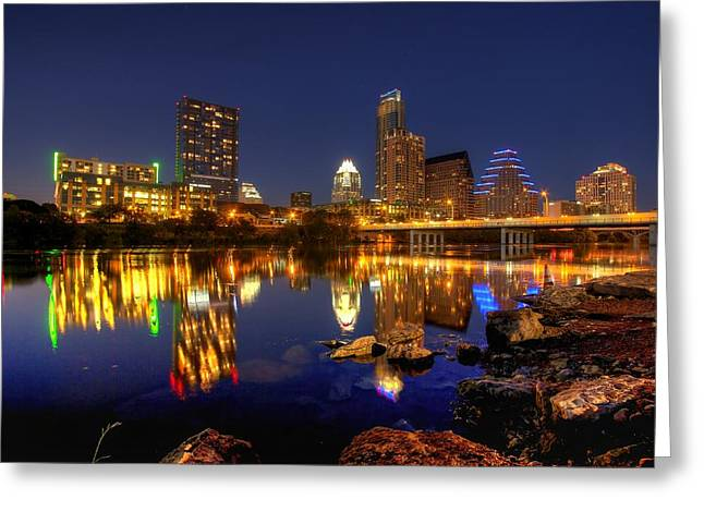 Greeting Card featuring the photograph Austin On The Rocks by Dave Files