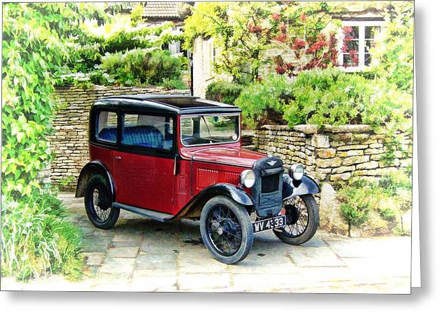 Greeting Card featuring the photograph Austin Seven by Paul Gulliver