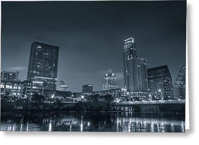 Austin Skyline Greeting Card by David Morefield